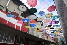 """Gerold Cuchi umbrellas in Zurich Switzerland"" - out of ""15 Bucket List Things to Do in Zurich, Switzerland"" by @bucketlistjrny (on twitter). #SwissAmbassadors #Blog #English"