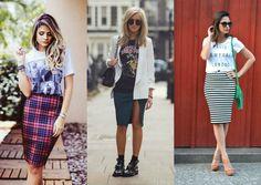 Combo t-shirt + pencil skirt Love it