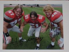 Buckeye Linebackers AJ Hawk, Anthony Schlegel and Bobby Carpenter.
