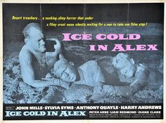 Ice Cold In Alex Poster, 1958 UK, dir. by J. Lee Thompson, written by Christopher Landon