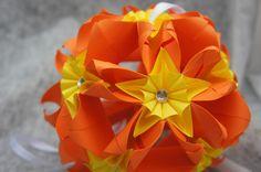 Blütenkugel Origami Herbst von Papier Träume auf DaWanda.com