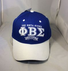 173b8c038c0a0 Phi Beta Sigma Fraternity Two-Tone Hat- Blue White- New!