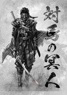 Ronin Tattoo, Samurai Tattoo, Cartoon Girl Drawing, Guy Drawing, Samurai Wallpaper, Samurai Anime, Samurai Artwork, Ninja Art, Warrior Tattoos