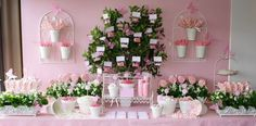 Butterfly Garden Party, Butterfly Birthday Party, Ballerina Birthday Parties, Adult Birthday Party, Birthday Party Themes, Surprise Birthday, Pink Garden, 60th Birthday, Birthday Ideas