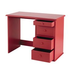 bureau enfant rouge coccinelle 231 40. Black Bedroom Furniture Sets. Home Design Ideas