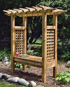 #2487 Arbor Bench Plans - Outdoor Furniture Plans