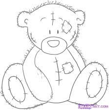 Tatty Teddy Bear How to Draw Can you draw like this? Tatty Teddy, Minion Coloring Pages, Colouring Pages, Coloring Books, Bear Photos, Bear Pictures, Cartoon Drawings, Easy Drawings, Bear Template