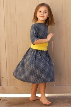 Boatneck style dress from the train to crazy.  Super simple and can easily make it into a woman's dress!