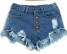 ☀ Blue Skies, Denim Shorts + Salty Tan ☀ Item Type: Shorts Gender: Women Fit Type: Regular Pant Style: Regular Pattern Type: Solid Style: Fashion Waist Type: High Material: Cotton,Polyester Closure Ty