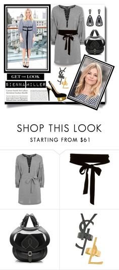 """""""Get the Look - Sienna Miller"""" by affton ❤ liked on Polyvore featuring Topshop, Tiffany & Co., Yves Saint Laurent, Anna e Alex, Sonia Rykiel, GetTheLook, gingham, siennamiller and platformheels"""