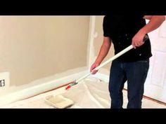 Como pintar una pared interior - YouTube