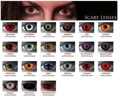 Dress up your #Eyes this #Halloween Largest Selection to Choose From! Only FDA Approved #Scary Contact #Lenses! More: http://fb.me/halloweenfor