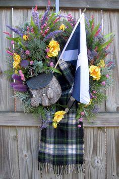 Scottish Highland Pride Wreath, Scotland Wreath, by IrishGirlsWreaths, $189.99- *SOLD!*