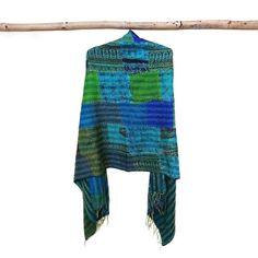 oversized Patch Work Silk Scarf Head Wrap Stole Kantha Embroidered Scarf Boho Scarves, gypsy