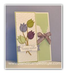 Easter Flowers Punch Art Card from Hand Stamped Style