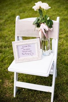 "Wedding sign idea to remember guests that have passed - framed sign that reads ""we know you would be here today if heaven weren't so far away"" {Marianne Wiest Photography}"