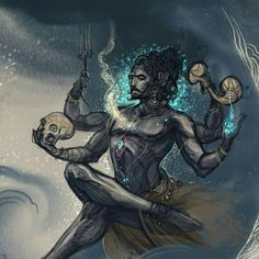 Lord Shiva as adiyogi in creative art painting Shiva Tandav, Rudra Shiva, Lord Shiva Hd Images, Shiva Lord Wallpapers, Angry Lord Shiva, Hanuman, Durga, Aghori Shiva, Shiva Sketch