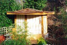Japanese Tea House Building Tips - Gazebo Inspiration Home Building Tips, House Building, Japanese Tea House, Japanese Gardens, Japanese Style, Garden Gates, Garden Sheds, Diy Garden Projects, Play Houses