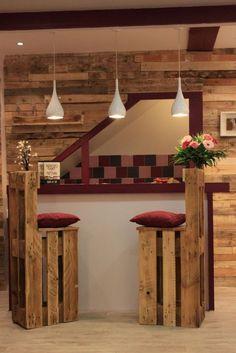 sillas de bar de palets: