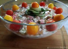 Twarożek  farmerski z warzywami Punch Bowls, Potato Salad, Potatoes, Ethnic Recipes, Food, Meal, Potato, Essen, Hoods