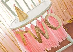 pink and gold Birthday Party Ideas   Photo 4 of 38   Catch My Party