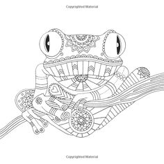 tree frog tropical wildlife Coloring pages colouring adult detailed advanced printable Kleuren voor volwassenen coloriage pour adulte anti-stress kleurplaat voor volwassenen Line Art Black and White zentangle http://www.amazon.com/Color-Me-Mindful-Anastasia-Catris/dp/1501130897/ref=pd_bxgy_14_img_y