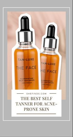 Want to know the best self tanner for acne-prone skin? Read more on SheFinds! Best Self Tanner, How To Get Tan, My Beauty Routine, Face Oil, Acne Prone Skin, Skin Problems, Natural Skin, Skin Care Tips, Beauty Skin