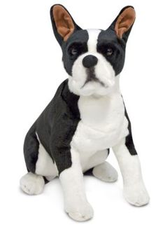 Melissa  Doug Multi Boston Terrier Plush Toy - Online only