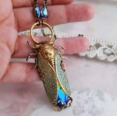 Cicada necklace Cicada jewelry Art Deco jewelry di Federikas