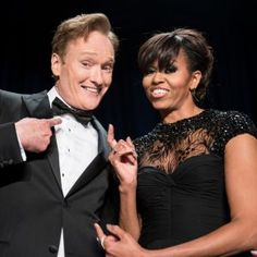 Michelle Obama Wears Lacy Monique Lhuillier to the White House Correspondents' Dinner