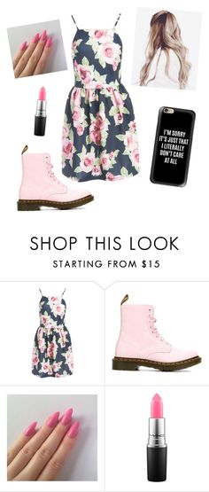 """Cute spring wear🌸"" by cfinneamon ❤ liked on Polyvore featuring Sans Souci, Dr. Martens, MAC Cosmetics and Casetify"