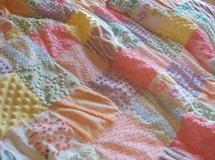 Sweet vintage chenille patchwork - I have several of these and they wash beautifully and are so soft....