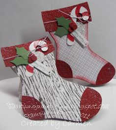 "SU Stocking Die Card - ""I just scored along the left edge of the back stocking and taped them together"" (Dec 22, 2011)"