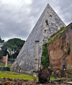 The Pyramid of Cestius, Rome.
