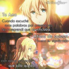 anime frases anime frase sentimientos ShuOumaGcrow amor violet evergarden