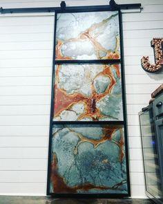 Industrial metal barn door slider - July 27 2019 at Barn Door Sliders, Industrial Metal, Industrial Furniture, Industrial Style, Pipe Furniture, Furniture Vintage, Vintage Industrial, Industrial Design, Furniture Design