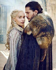 Daenerys Targaryen and Jon Snow (Emilia Clarke and Kit Harington) for Entertainment Weekly