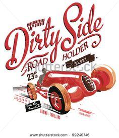 illustration retro race car for printing by yusuf doganay, via Shutterstock