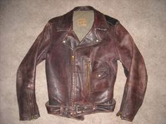 This Day in Life and Sports: 1930s Brown Beck Horsehide Motorcycle Jacket
