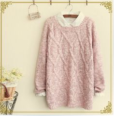 Lovely Round Loose Neckline Sweater