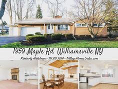 Beautiful 2000 square foot ranch on 1/2 acre corner lot 1959 Maple Rd Williamsville... #ForSale
