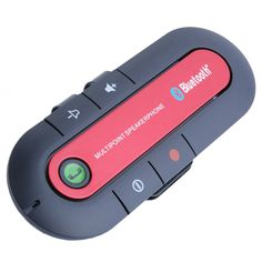 New Arrival Multi-point Speakerphone Sun Visor Bluetooth Cell Mobile Phone Bluetooth Hands Free v3.0 Car Kit