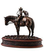 Montana Silversmiths Best Friends Sculpture - www.fortwestern.com Garden Sculpture, Lion Sculpture, Horse Art, Horses, My Style, Outdoor Decor, Accessories, Friends, Statues
