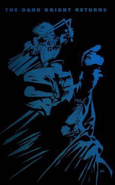 Batman - The Dark Knight Returns - Frank Miller Frank Miller Art, Dark Knight Returns, Batman The Dark Knight, Batman Robin, Illustrations And Posters, The Darkest, Comic Books, Comics, Artwork