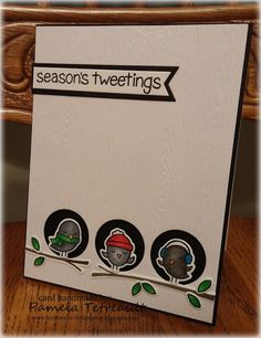 """airbornewife's stamping spot: PPA276 A Sketch Challenge: """"SEASON'S TWEETINGS"""" card"""