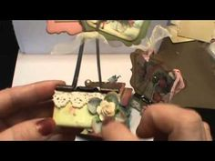 Shabby chic altered binder clips