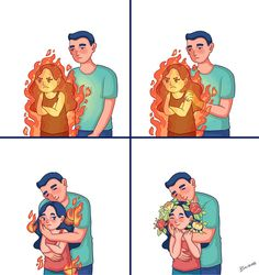 Artist Draws Her Love Life With Her Boyfriend In 31 Hilarious Comics Cute Couple Comics, Cute Couple Cartoon, Couples Comics, Cute Couple Art, Cute Love Cartoons, Cute Comics, Cute Couples, Cute Love Stories, Cute Love Quotes