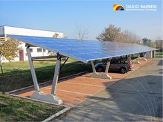 Pensilina fotovoltaica Energy Parking - Finale Emilia (Mo) - Istituto Calvi -  Elettrica Riese