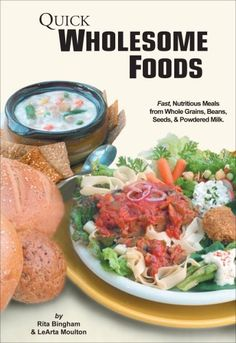 (Legumes Paleo Diet) The Quick Wholesome Foods DVD with 28 page Recipe Booklet shows you how to make delicious heart healthy meals from wheat, grains, beans and more using your food storage. #Paleo #Diet #For #Athletes #Recipes