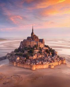One of my favourite images, taken at Mont-Saint Michel in France on a beautiful morning. Mont Saint Michel France, Le Mont St Michel, Best Vacation Destinations, Best Vacations, France Vacations, Beautiful Castles, Beautiful Places, Wonderful Places, Lonely Planet